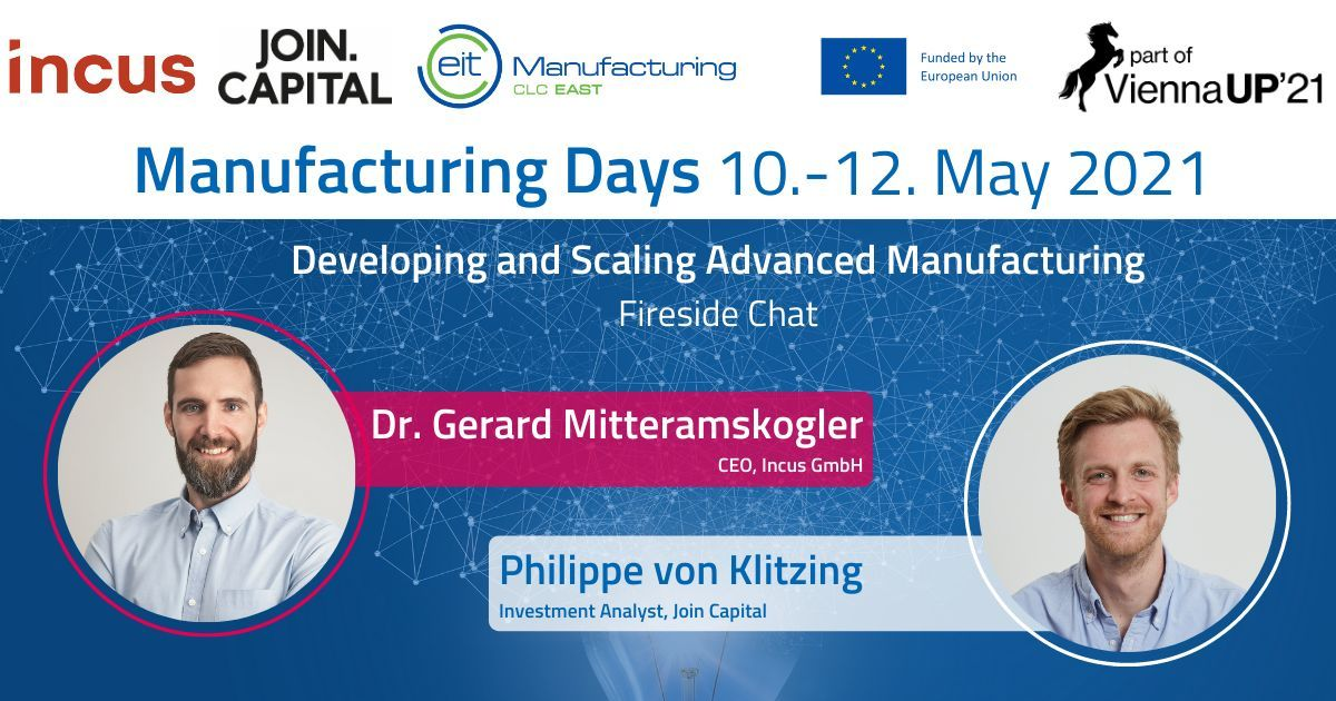 Incus CEO Will Take Part in Manufacturing Days'21