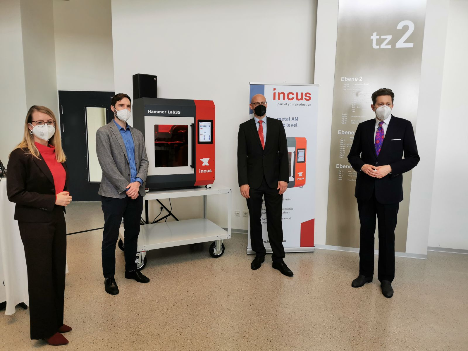 Federal Minister for Digital and Economic Affairs Visits Incus Headquarter